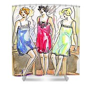 1920s Teddies Shower Curtain