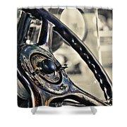 1924 Packard - Steering Wheel Shower Curtain