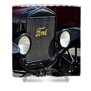 1925 Ford Model T Coupe Grille Shower Curtain