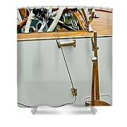 1925 Rolls-royce Phantom I Barker Sports Torpedo Tourer Steering Wheel Shower Curtain