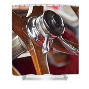 1925 Stutz 695 Speedway Sportster Steering Wheel Shower Curtain