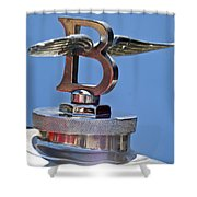 1927 Bentley 6.5 Liter Sports Tourer Hood Ornament Shower Curtain