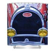 1927 Bugatti Replica Grille Headlights Shower Curtain