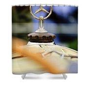 1927 Mercedes-benz S Hood Ornament Shower Curtain