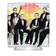 1927 New Yorkers Jazz Band Shower Curtain