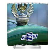 1928 Chevrolet Stake Bed Pickup Hood Ornament Shower Curtain