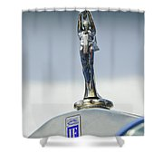 1928 Isotta Fraschini Tipo 8as Landaulet Hood Ornament Shower Curtain