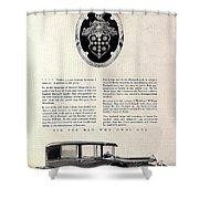 1928 Packard Shower Curtain