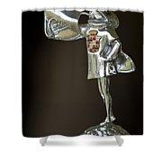 1929 Cadillac 1183 Dual Cowl Phaeton Hood Ornament Shower Curtain