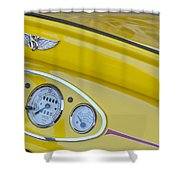 1929 Ford Model A Roadster Dashboard Instruments Shower Curtain