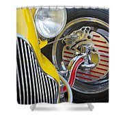 1929 Ford Model A Roadster Wheel Shower Curtain