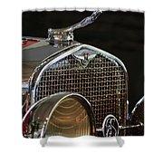 1929 Lasalle Hood Ornament Shower Curtain