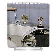 1929 Mercedes-benz S Tourer Hood Ornament Shower Curtain
