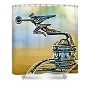 1929 Packard Hood Ornament Shower Curtain