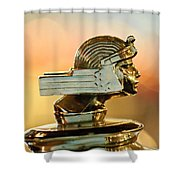 1929 Stutz Series M Four-passenger Dual-cowl Speedster Hood Ornament  Shower Curtain