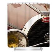1931 Bugatti Type 55 Roadster Grille Emblem Shower Curtain