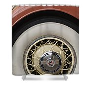 1931 Cadillac Roadster Wheel Shower Curtain