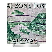 1931 Canal Zone Stamp Shower Curtain