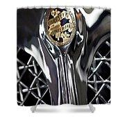 1931 Chrysler Cg Imperial Roadster Hood Emblem Shower Curtain
