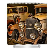 1931 La Salle Series 345r And 1929 Packard Roadster Shower Curtain