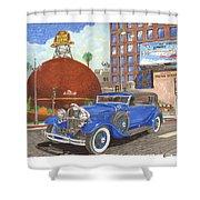 1931 Lincoln K Dietrich Phaeton Shower Curtain