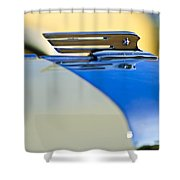 1931 Marmon Sixteen Convertible Coupe Hood Ornament Shower Curtain