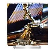 1932 Auburn V-12 Speedster Hood Ornament Shower Curtain