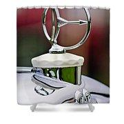 1932 Austro Daimler Hood Ornament Shower Curtain