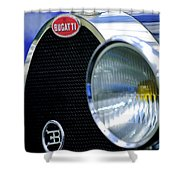 1932 Bugatti Type 55 Cabriolet Grille Emblem Shower Curtain