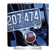 1932 Ford Model 18 Roadster Hotrod Taillight Shower Curtain