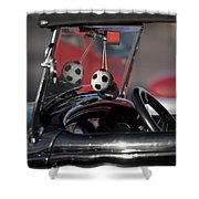 1932 Ford Roadster Fuzzy Dice Shower Curtain