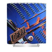 1932 Ford Taillight License Plate Shower Curtain