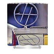 1932 Hupmobile Custom Roadster Hood Ornament Shower Curtain
