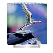 1933 Chevrolet Master Six Eagle Sedan Hood Ornament Shower Curtain