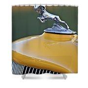 1933 Dodge Ram Hood Ornament Shower Curtain