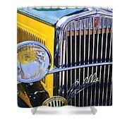 1933 Fiat Balilla Grille Shower Curtain