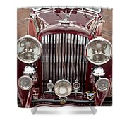 1934 Bentley 3.5-litre Drophead Coupe Grille Shower Curtain