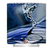 1934 Cadillac V-16 452 Two-passenger Stationary Coupe Hood Ornament And Emblem Shower Curtain
