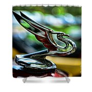 1934 Chevrolet Flying Eagle Hood Ornament - 2 Shower Curtain