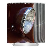 1934 Ford Headlight And Grill Shower Curtain