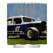 1934 Ford Stock Car Shower Curtain