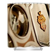 1934 Packard 1104 Super Eight Phaeton Emblem Shower Curtain by Jill Reger