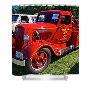 1935 Dodge Firetruck Shower Curtain
