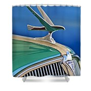 1935 Hudson Touring Sedan Hood Ornament Shower Curtain