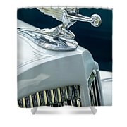 1935 Packard Sedan Hood Ornament Shower Curtain