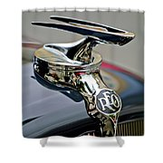 1935 Reo Speedwagon Pickup Hood Ornament Shower Curtain