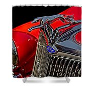 1936 Ford Model 48 Emblem Shower Curtain