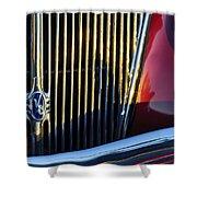 1936 Ford Phaeton V8 Grille Emblem Shower Curtain