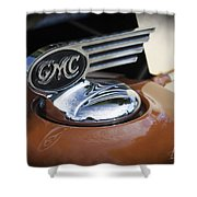 1936 Gmc Pickup Truck Hood Ornament Shower Curtain