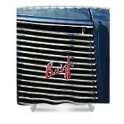 1937 Buick Grille Emblem Shower Curtain